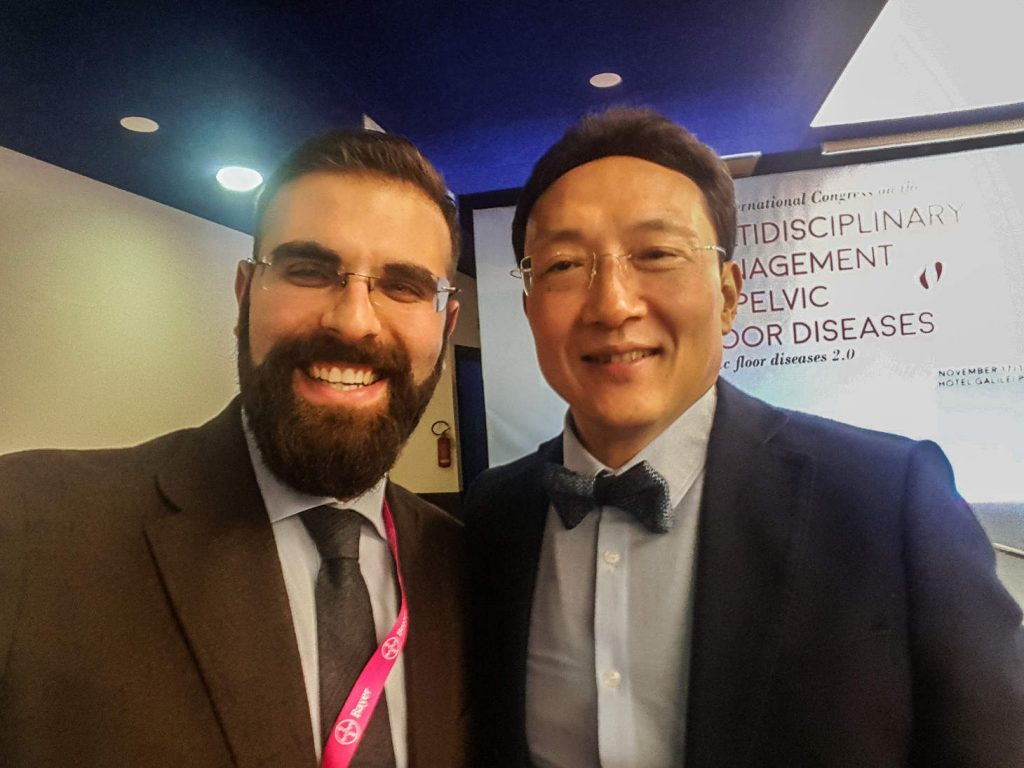 con il Prof. Dong Lee al Congresso internazionale sui disordini del pavimento pelvico 2016