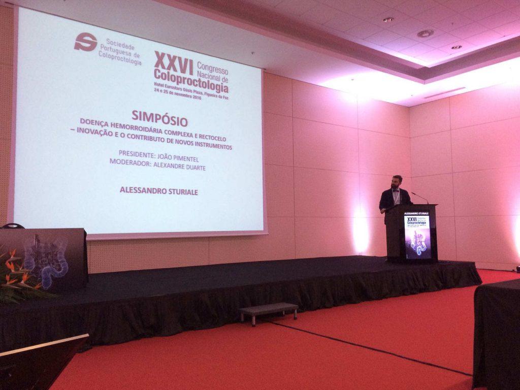 Il Dr. Sturiale espone al Congresso nazionale societa portoghese coloproctologia 2016