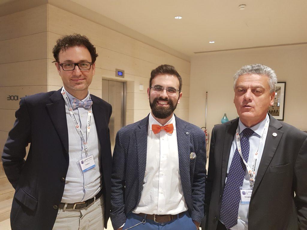 Dr. Sturiale con Dr. Mario Trompetto (destra) e Dr. Iacopo Giani (sinistra) alla SICCR 2017