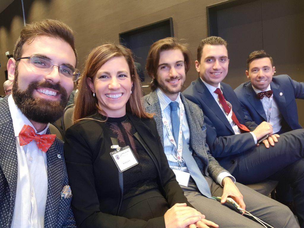 Dr. Sturiale con Dr.ssa Moggia, Dr. Pellino, Dr. De Luca e Dr. Gallo alla SICCR 2017