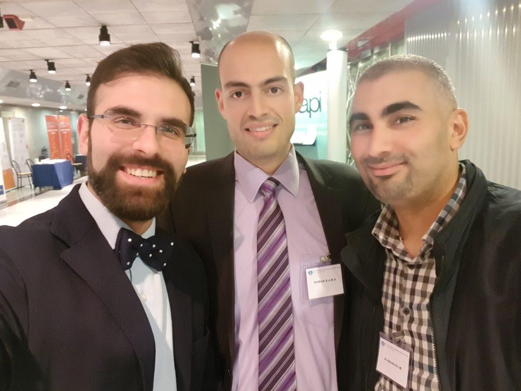 Dr. Sturiale con Dr. Dowais e Dr. Al-Balas