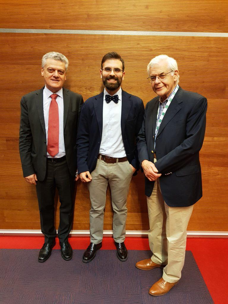 Dr. Sturiale con Dr. Trompetto e Prof. RJ Nicholls